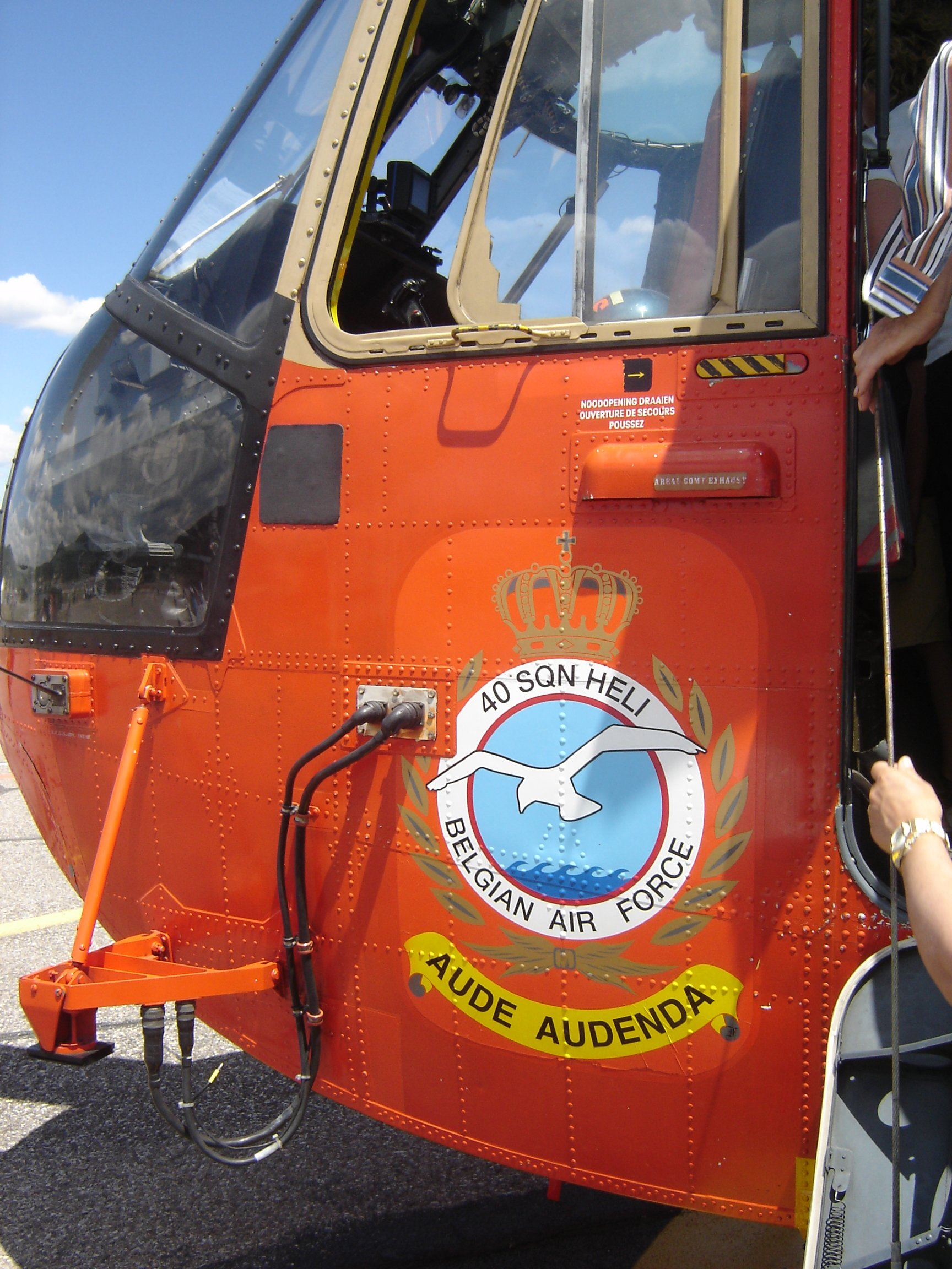 Détail de Sea King belge